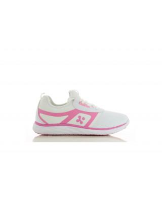 Buty damskie medyczne KARLA obuwie medyczne kolor biały z amarantem