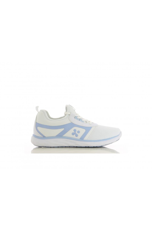 Buty damskie medyczne KARLA obuwie medyczne kolor biały z błękitem