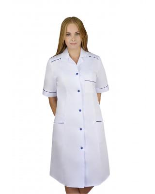 M-220 Fartuch damski medyczny ochronny kolor biały
