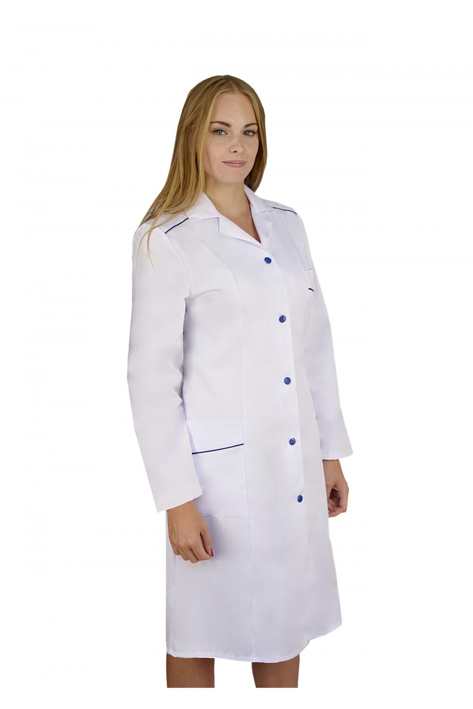 846b4f312abd0 Fartuch medyczny damski z długim rękawem M-220B - Martex Producent ...