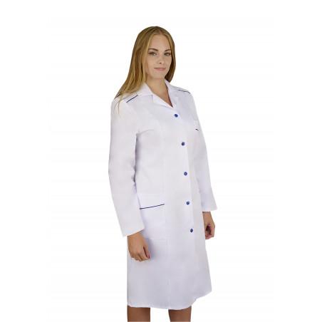 Fartuch medyczny damski z długim rękawem M-220B