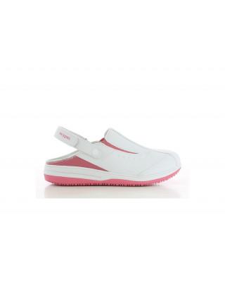 Buty damskie medyczne IRIS damskie biały i amarant