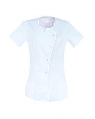 M-342B Fartuch damski medyczny kosmetyczny fartuch kolor biały