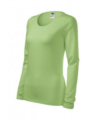 Koszulka damska SLIM długi rękaw 139 groszkowy