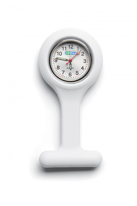 Zegarek silikonowy medyczny dla lekarza pielęgniarki kolor biały