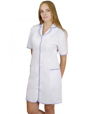 M-092S Fartuch damski medyczny ochronny kolor biały