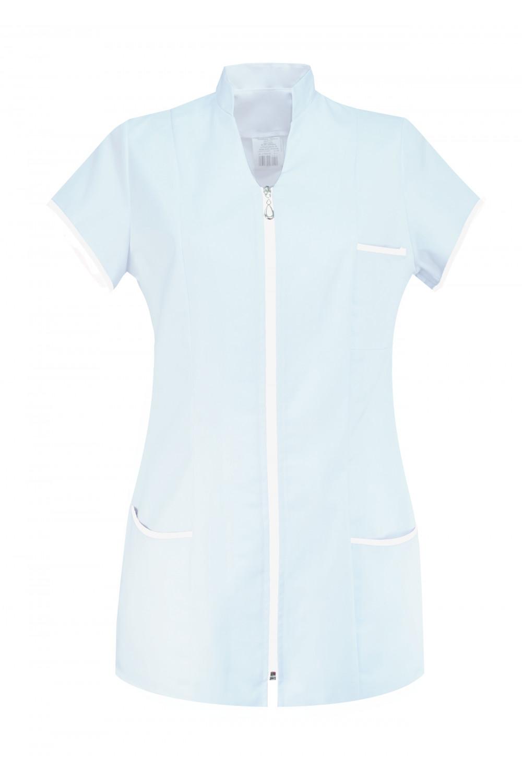 M-308 Żakiet damski na suwak medyczny kosmetyczny fartuch kolor biały