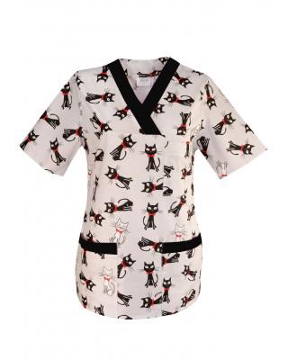 M-074G Bluza kolorowa wzorzysta żakiety / bluzy