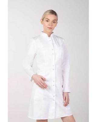 Fartuch medyczny kosmetyczny damski biały M-141T