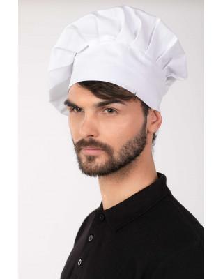 Czapka kucharska gastronomiczna budyniówka biała