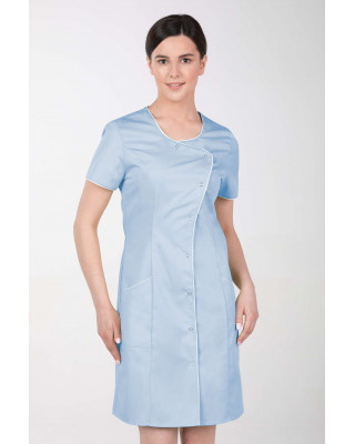 Fartuch sukiennka medyczna kosmetyczna damska błękitna M-342