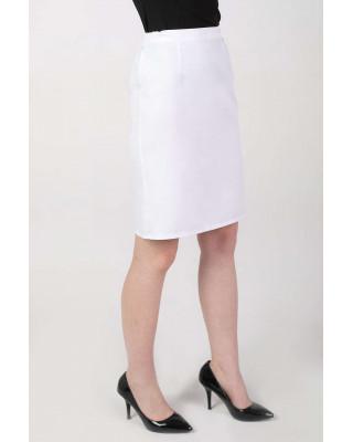 M-058X Spódnica elastyczna FLEXIBLE medyczna do fartucha kolor biały