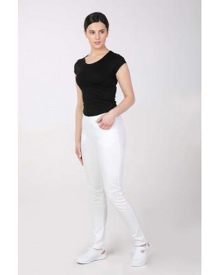 M-100X Spodnie damskie elastyczne medyczne do pracy kolor biały