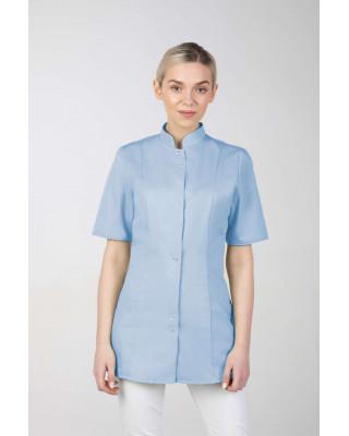 M-141S Żakiet damski medyczny fartuch lekarski uniform kosmetyczny błękit