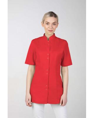 M-141S Żakiet damski medyczny fartuch lekarski uniform kosmetyczny czerwony