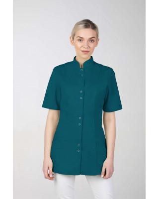 M-141S Żakiet damski medyczny fartuch lekarski uniform kosmetyczny ciemna zieleń