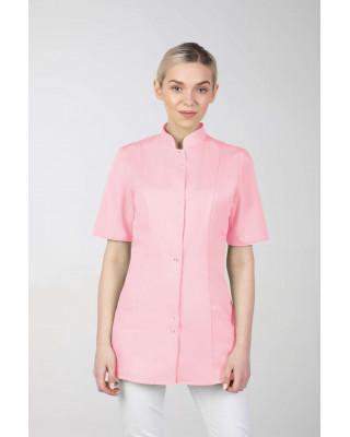 M-141S Żakiet damski medyczny fartuch lekarski uniform kosmetyczny  pudrowy różowy