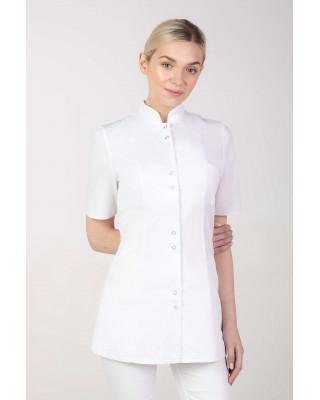 M-141S Żakiet damski medyczny fartuch lekarski uniform kosmetyczny biały