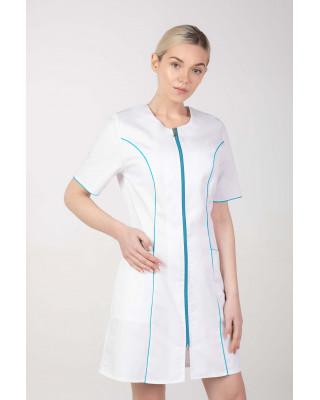 M-173C Fartuch damski medyczny sukienka medyczna na zamek kolor