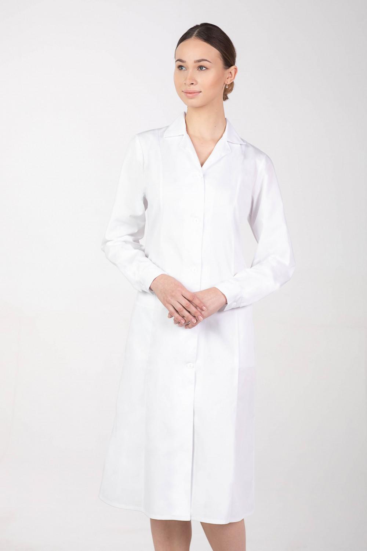 M-092B Fartuch damski medyczny laboratoryjny kolor biały