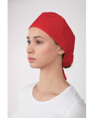 M-321 Czepek chirurgiczny lekarski ochronny kolor czerwony