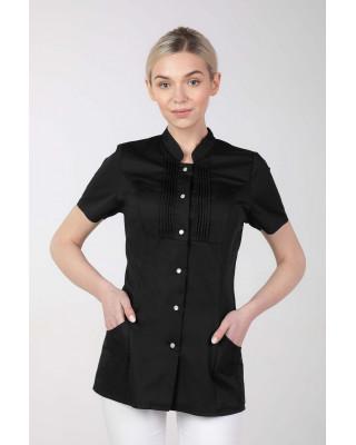 M-343E Żakiet damski bluza medyczna kosmetyczna SPA uniform kolor czarny