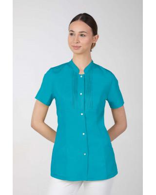 M-343E Żakiet damski bluza medyczna kosmetyczna SPA uniform kolor turkus