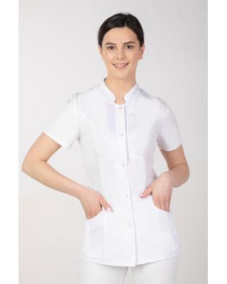 M-343E Żakiet damski bluza medyczna kosmetyczna SPA uniform kolor biały