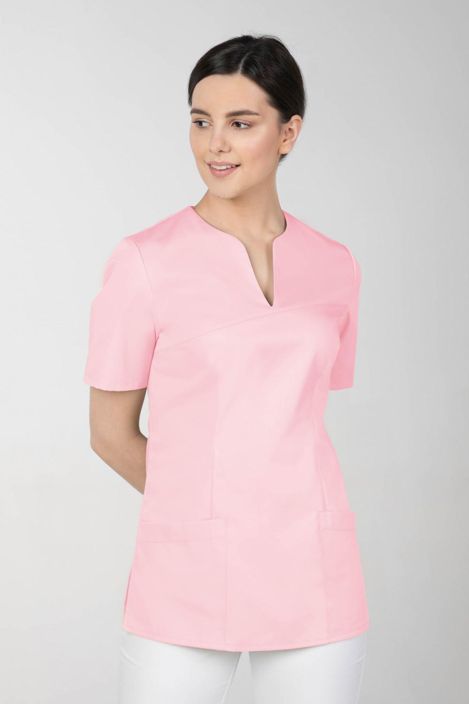 Bluza medyczna kosmetyczna damska jasny róż M-323