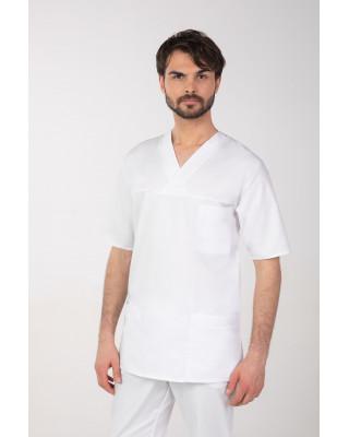 M-074Z Komplet medyczny lekarski chirurgiczny męski kolor biały