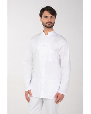 M-118 J Bluza męska medyczna marynarka lekarska fartuch męski kolor biały