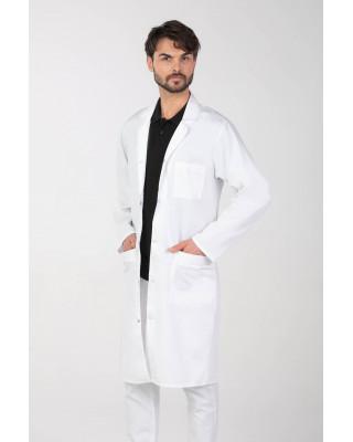 M-117 Fartuch męski  lekarski na napy laboratoryjny biały