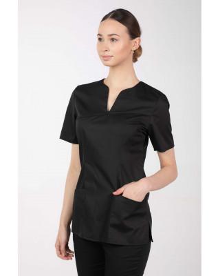 M-323X Bluza damska medyczna elastyczna kosmetyczna kolor czarny