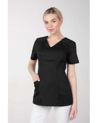 Bluza kosmetyczna M-376A czarna