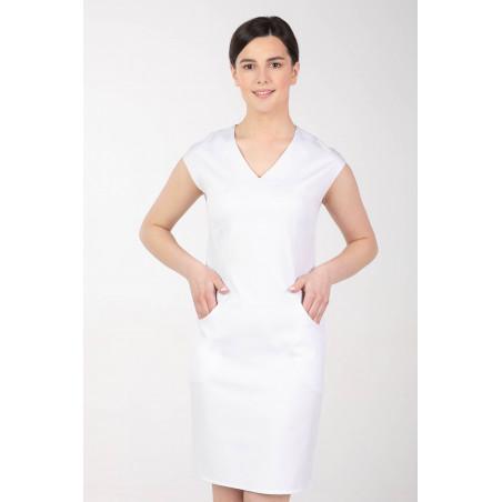 Sukienka medyczna elastyczna M-373X biała