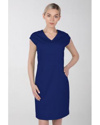 Sukienka medyczna elastyczna M-377X szafirowa