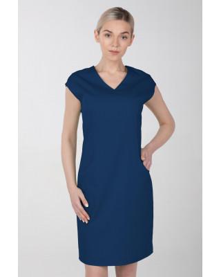 Sukienka medyczna damska elastyczna M-377X indygo