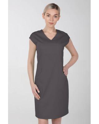 Sukienka medyczna damska elastyczna M-377X grafitowa