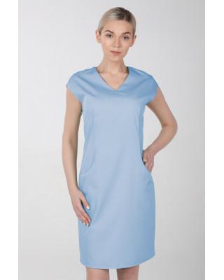 Sukienka medyczna damska elastyczna M-373X błękitna