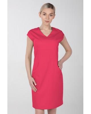 Sukienka medyczna damska elastyczna M-377X amarantowa