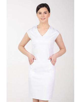 Sukienka medyczna elastyczna M-373 biały