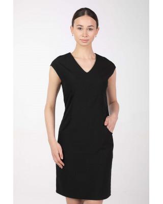 Sukienka medyczna elastyczna M-373 czarny