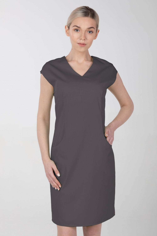 Sukienka medyczna elastyczna M-373 grafit