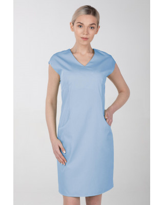 Sukienka medyczna elastyczna M-373 błękit
