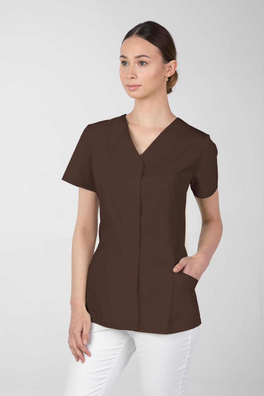 Żakiet medyczny damski M-377 kryte napy, kolor czekolada