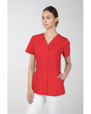 Żakiet medyczny damski M-377 kryte napy, kolor czerwony