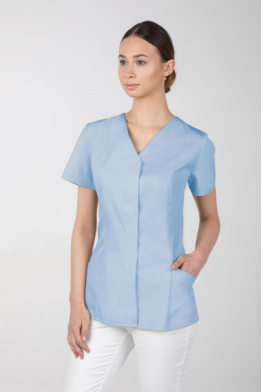 Żakiet medyczny damski M-377 kryte napy, kolor błękit