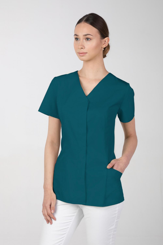 Żakiet medyczny damski M-377 kryte napy, kolor ciemny zielony