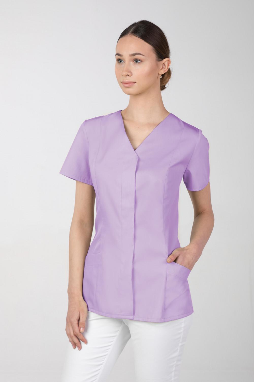 Żakiet medyczny damski M-377 kryte napy, kolor lawenda