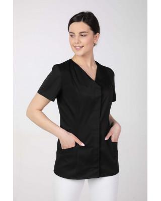 Żakiet medyczny damski M-377 kryte napy, kolor czarny